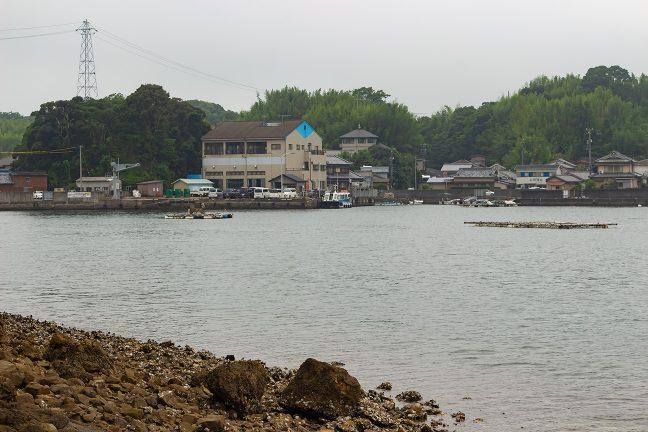 三ケ所に接岸中の県道船