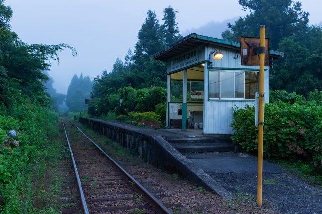 いすみ鉄道・久我原駅(千葉県:2016年7月)