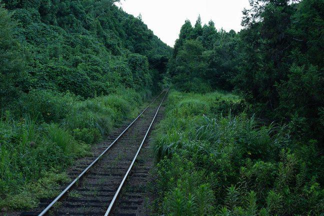 峠越えの隘路のような東総元への鉄路