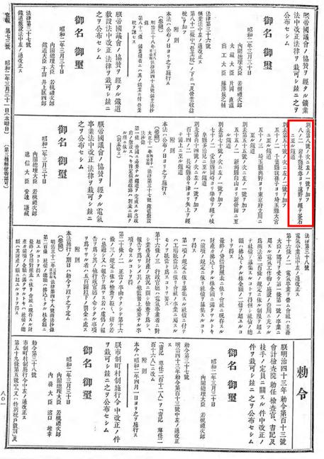 引用図:鉄道敷設法別表8ノ2(法律第37号・1927年)