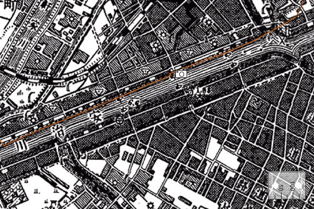 旧版地形図:安治川隧道付近(1911/10/30発行)