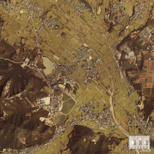 旧版空撮画像:法華口駅周辺(1980/10/02撮影)