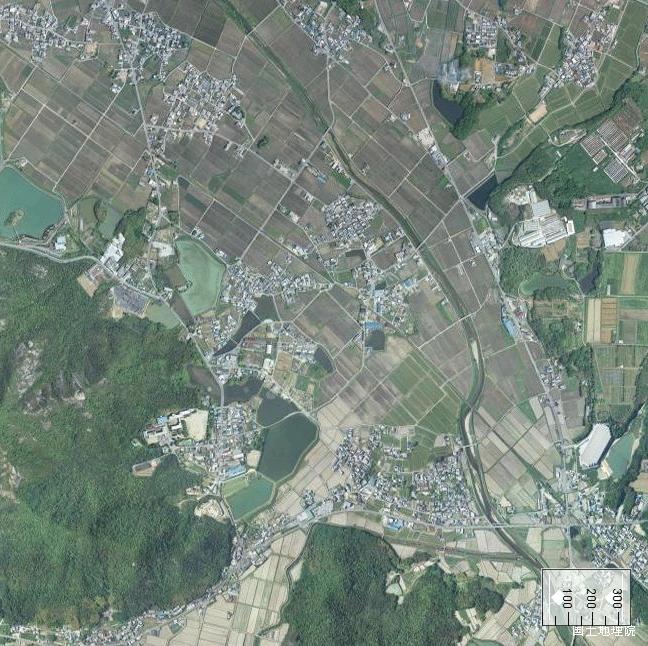 旧版空撮画像:法華口駅周辺(2009/05/12撮影)