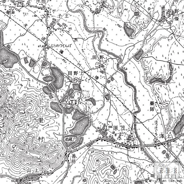 旧版地形図:法華口駅周辺(1926/08/30発行)