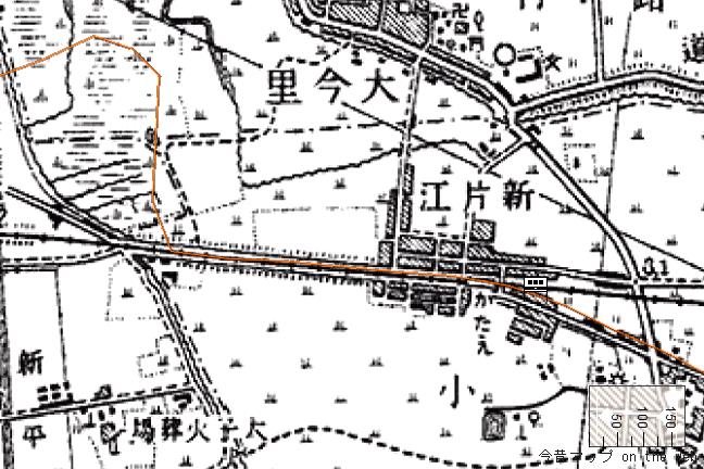 旧版地形図:今里駅周辺(1925/09/30発行)
