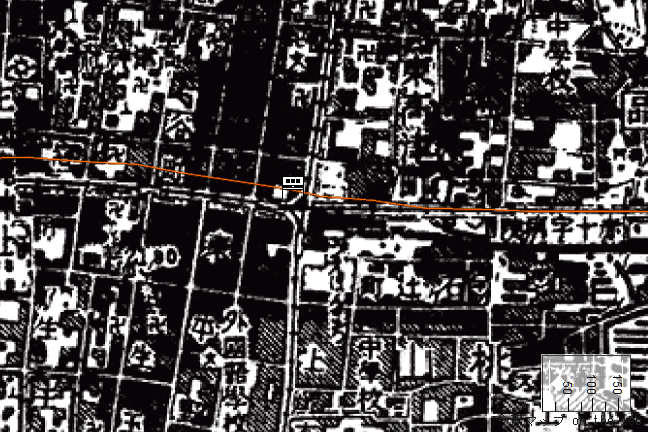 旧版地形図:上本町駅周辺(1932修正1947/08/30発行)