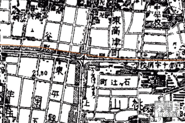 旧版地形図:上本町駅周辺(1951/11/30発行)